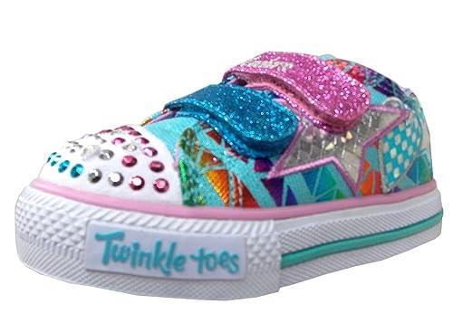 Skechers Twinkle Toes Shuffles - Zapatillas de Dedos para niña, Color Azul, Talla 33.5 EU: Amazon.es: Zapatos y complementos
