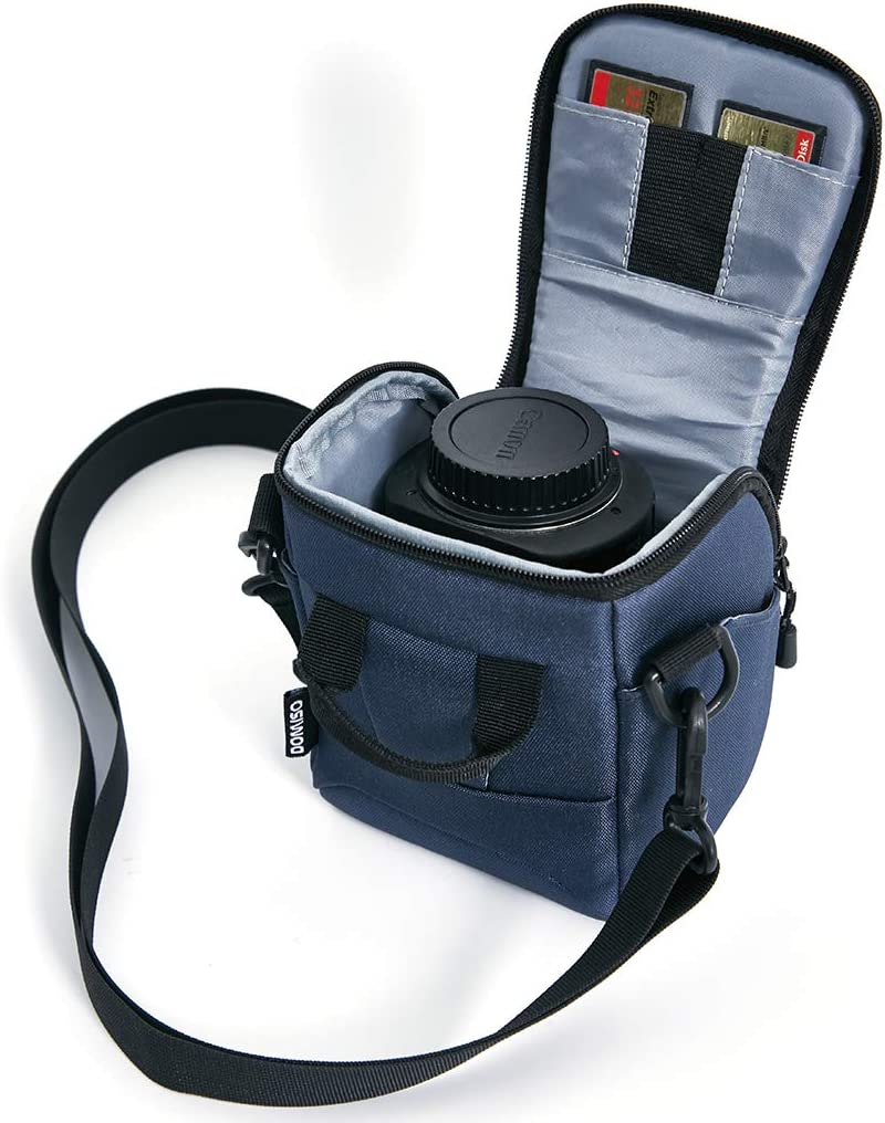 DOMISO Camera Case Shoulder Bag for System Camera Canon EOS M6 M5 M3 M10 PowerShot SX540 HS SX430 is//Sony A6500 A6300 A6000 A5100 Nikon 1 J5 COOLPIX B700 B500 Olympus E-PL 8