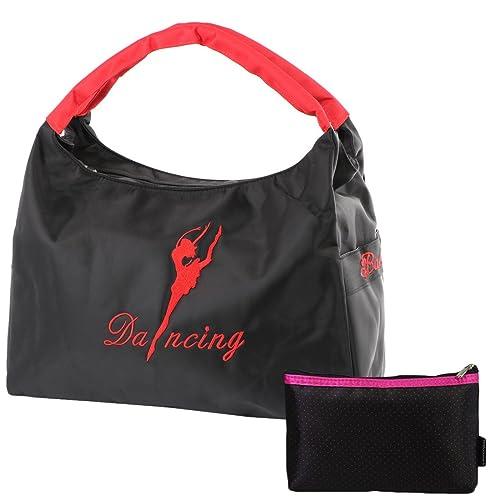 kilofly Girls Ballerina Ballet Dance Shoulder Bag Handbag + Cosmetic Pouch  Set  Amazon.in  Shoes   Handbags 72c808a0e1e45