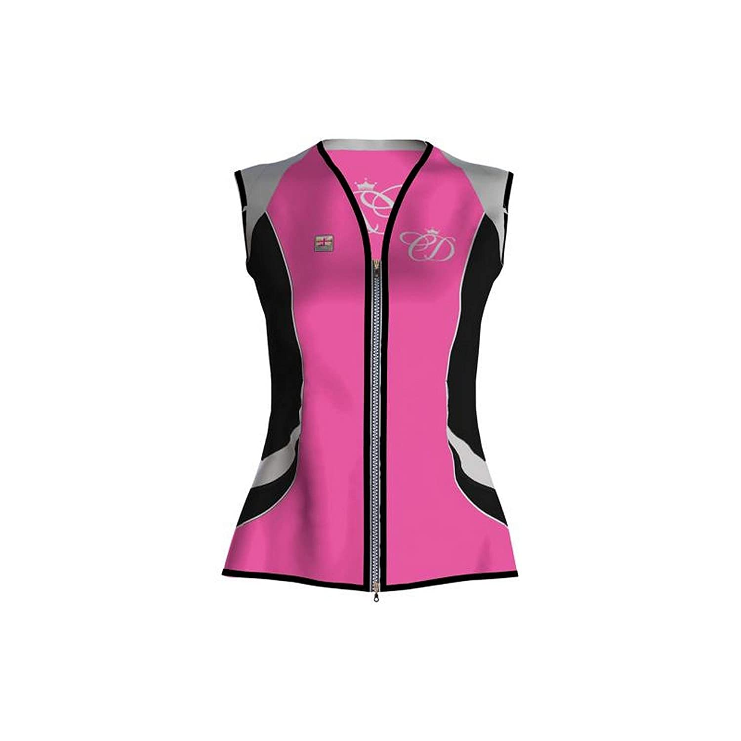 Equisafety Charlotte Dujardin Arret Waistcoat B074WQQ5RR Small|ピンク ピンク Small