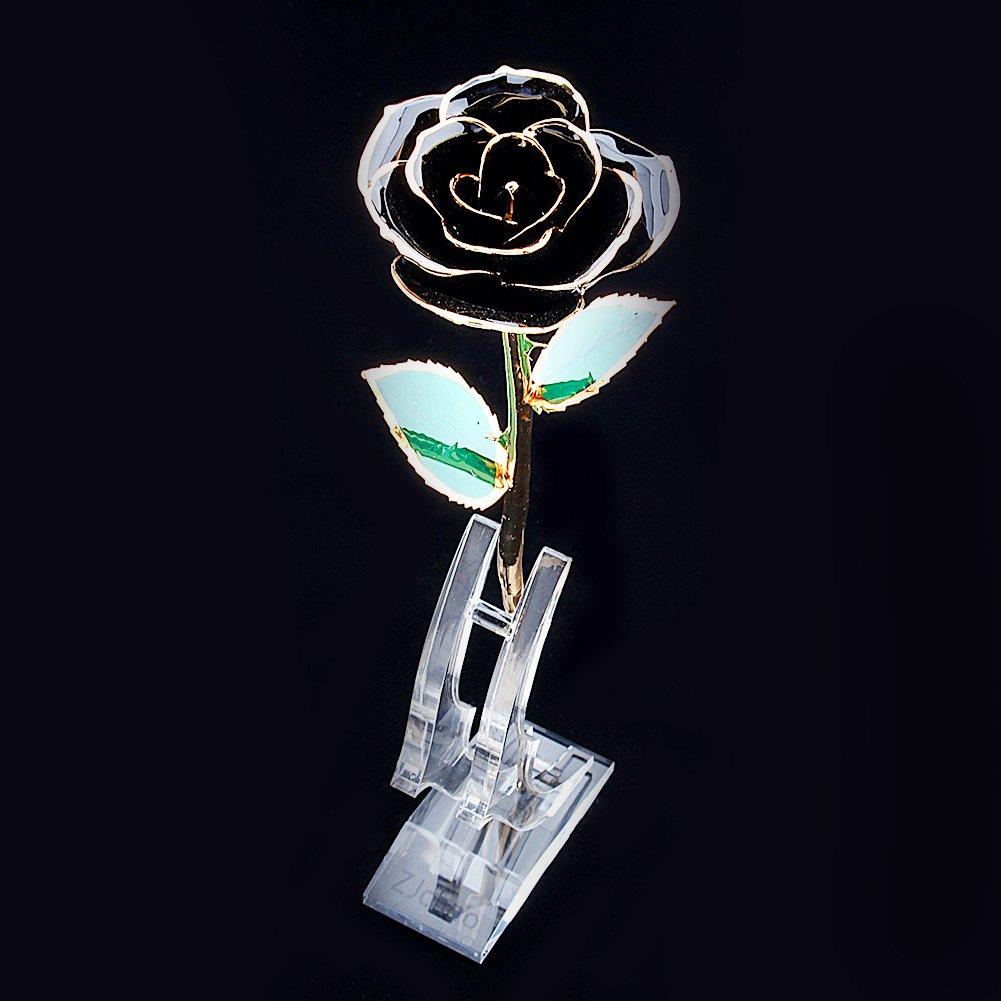 Rosa Rosa 24k chapada en oro perfecto regalo para el d/ía de San Valent/ín d/ía de la madre Navidad cumplea/ños