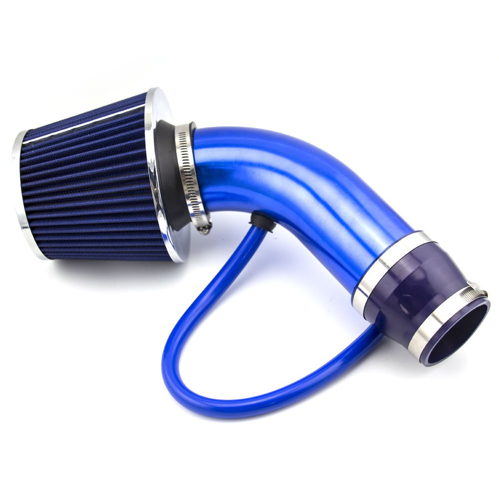 DAXGD Universal Filtro de admisión de aire frío Tubo de Inducción Alumimum Azul: Amazon.es: Coche y moto