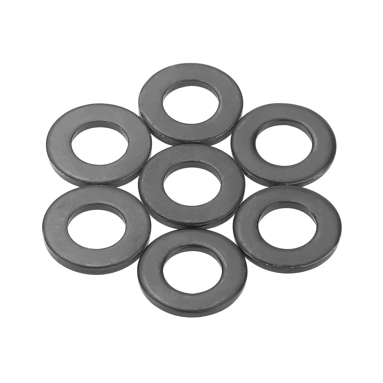 Sutemribor Black Zinc Plated Alloy Flat Washer 100 PCS M6