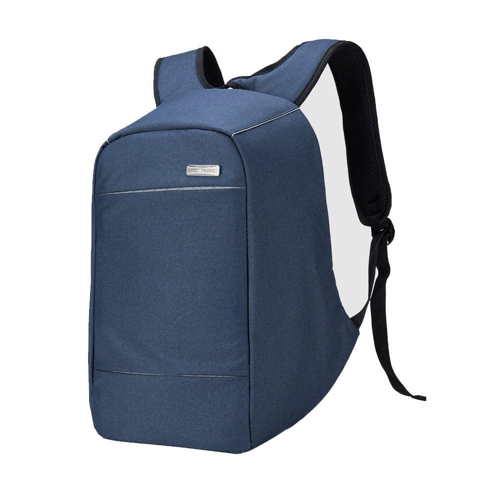 ユニセックスAnti Theft Laptopバックパックビジネスバッグ旅行コンピュータリュックサックwith USB充電ポートパック 16 INCH ブルー LD1883  ブルー B078VSV9H7