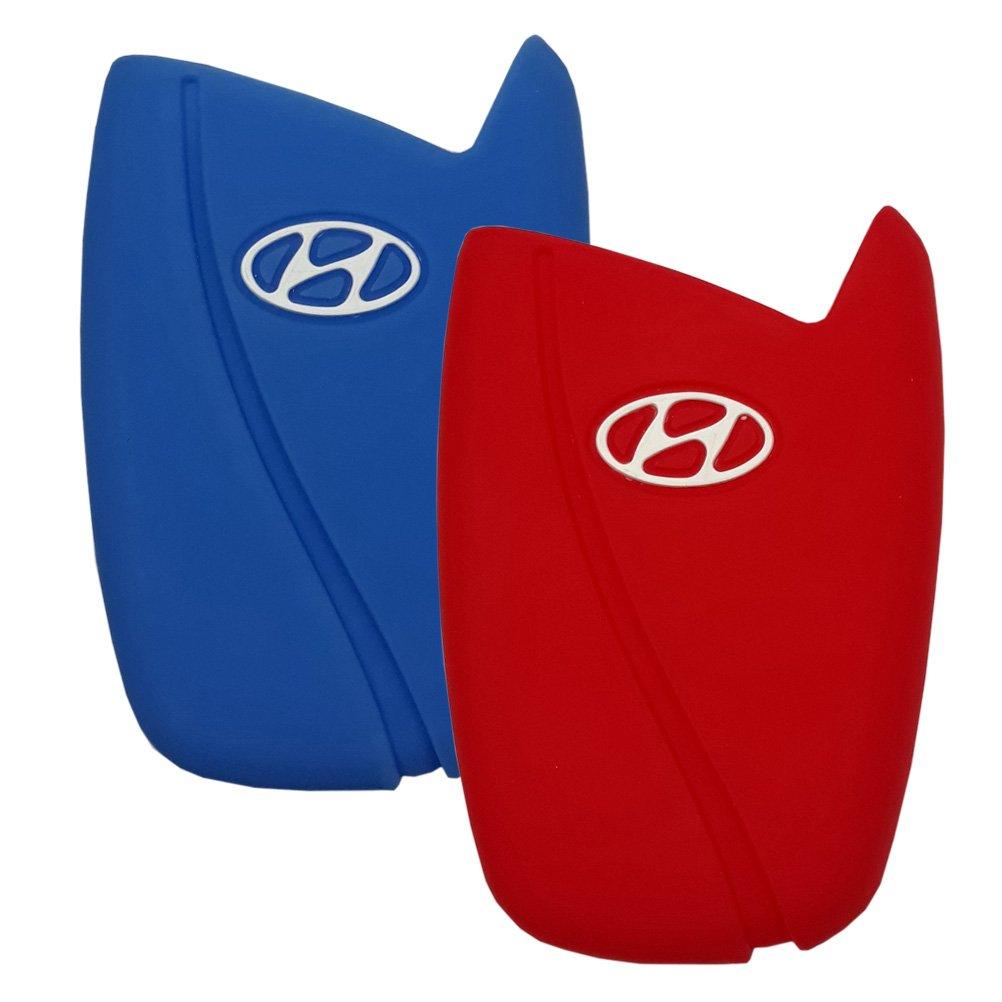 15 Blue//RED 2 Pieces # 20 Hanmin Motors Car Smart Key Case Silicone Rubber Fob Skin Protector Compatible with Hyundai Genesis 15 16 Santafe 13 14 15 Equus 14 15 Azera