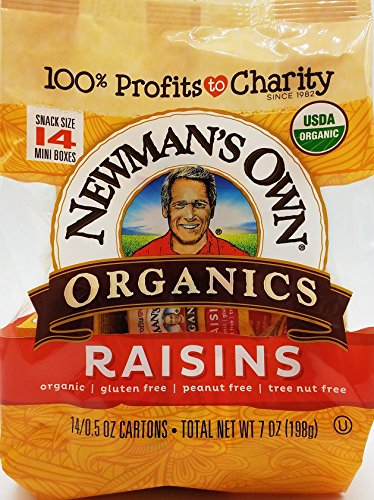 Newman's Own Organics Raisins, 0.5-Ounce, 14-Count Mini Boxes (Pack of - Rice Newmans Own