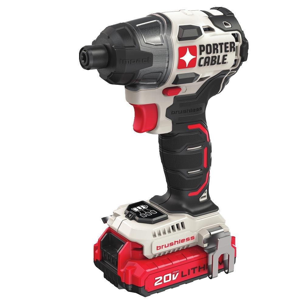 PORTER-CABLE PCCK647LB 20V MAX Brushless Cordless Impact Driver by PORTER-CABLE