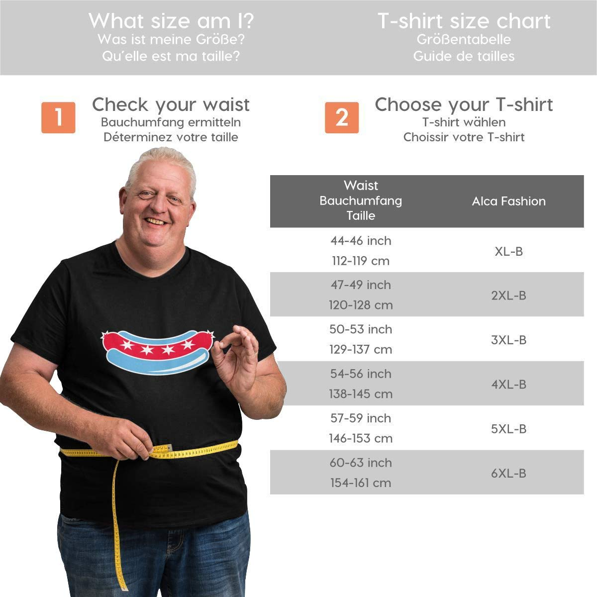 Chicago Dogs Logo Mens Oversized Classic Larger Waist T-Shirt for Size XL to 6XL