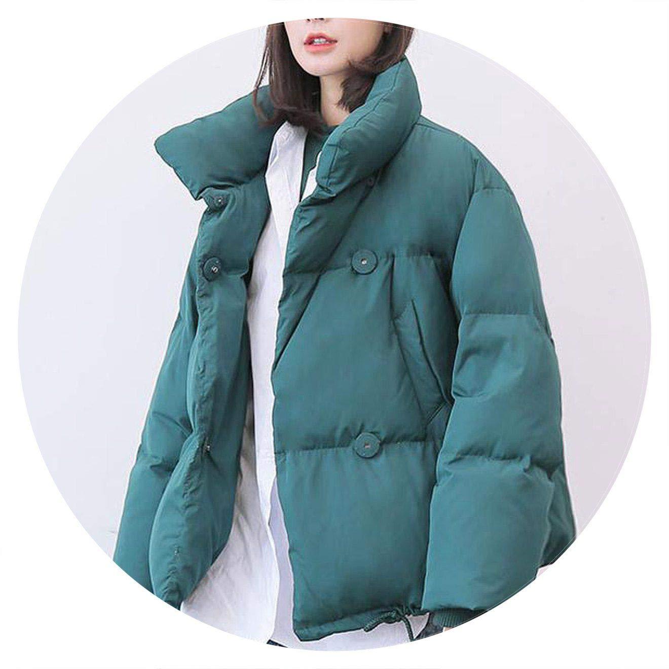 Green Jifnhtrs Winter Jacket Coats 90% Duck Down Parkas Loose Warm Snow Short Outwear Female Stand Collar Overcoat