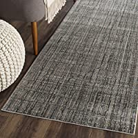 Safavieh Valencia Collection VAL202C Grey and Multi Vintage Distressed Silky Polyester Runner Rug (23 x 12)