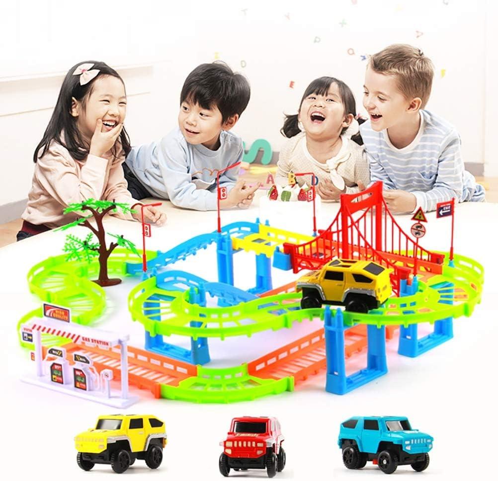 Ciento-cambio del carril de los niños del coche Thomas ensambló los juguetes pequeños del rompecabezas del tren eléctrico, juguetes interactivos del padre-niño DIY 108PCS, regalos del día de fiesta