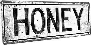 Homebody Accents TM Honey Metal Street Sign, Vintage, Retro