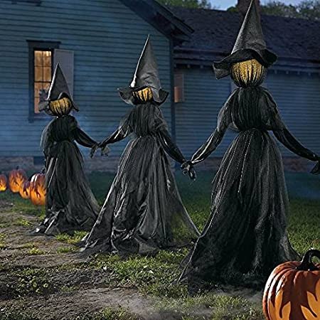 You can buy theSet of 3 Lighted Glowing Black Witches Witch Coven Outdoor Halloween Prop here