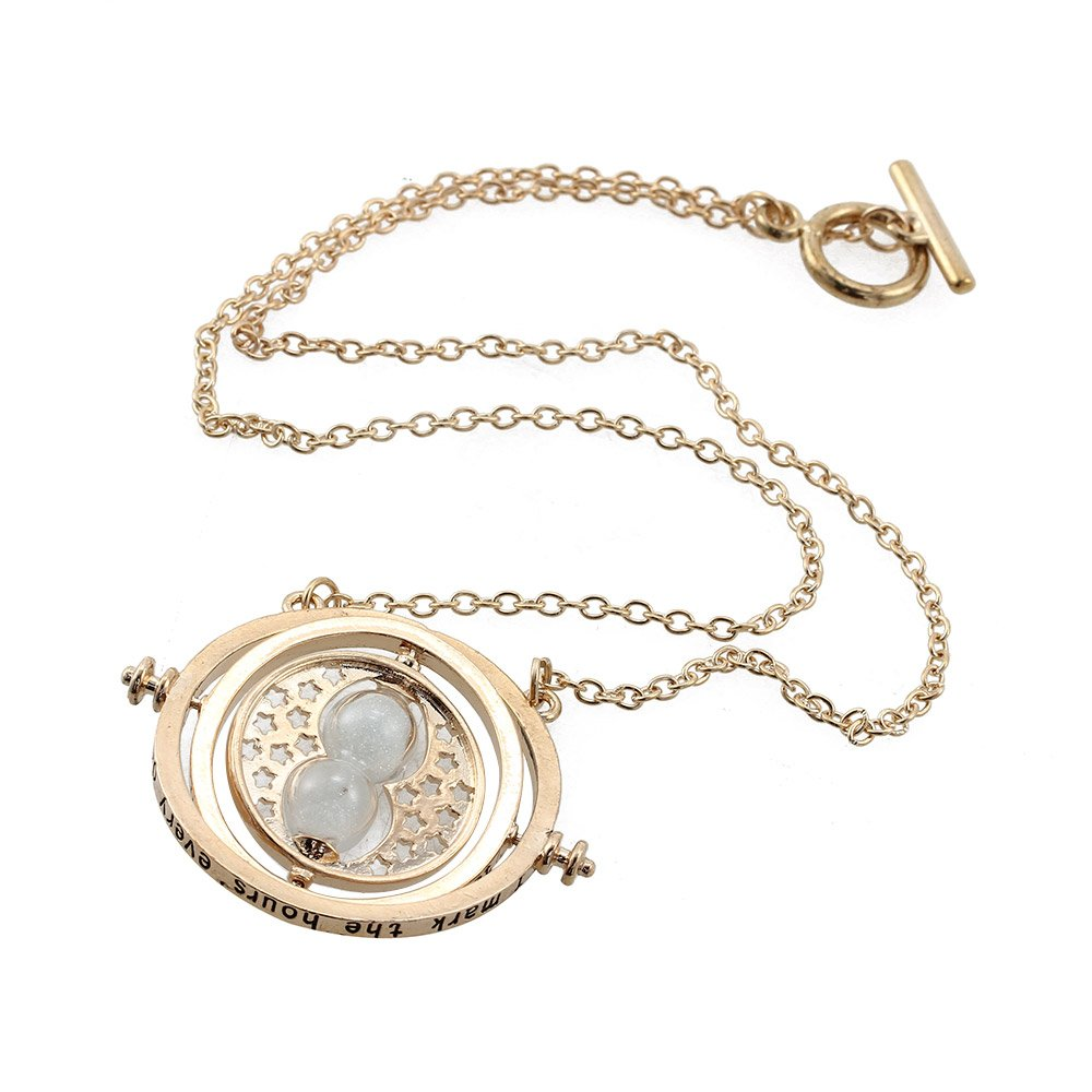 Heddi cool womens girls gold tone necklace round rotating heddi cool womens girls gold tone necklace round rotating hourglass pendant necklace for gift amazon home kitchen mozeypictures Image collections