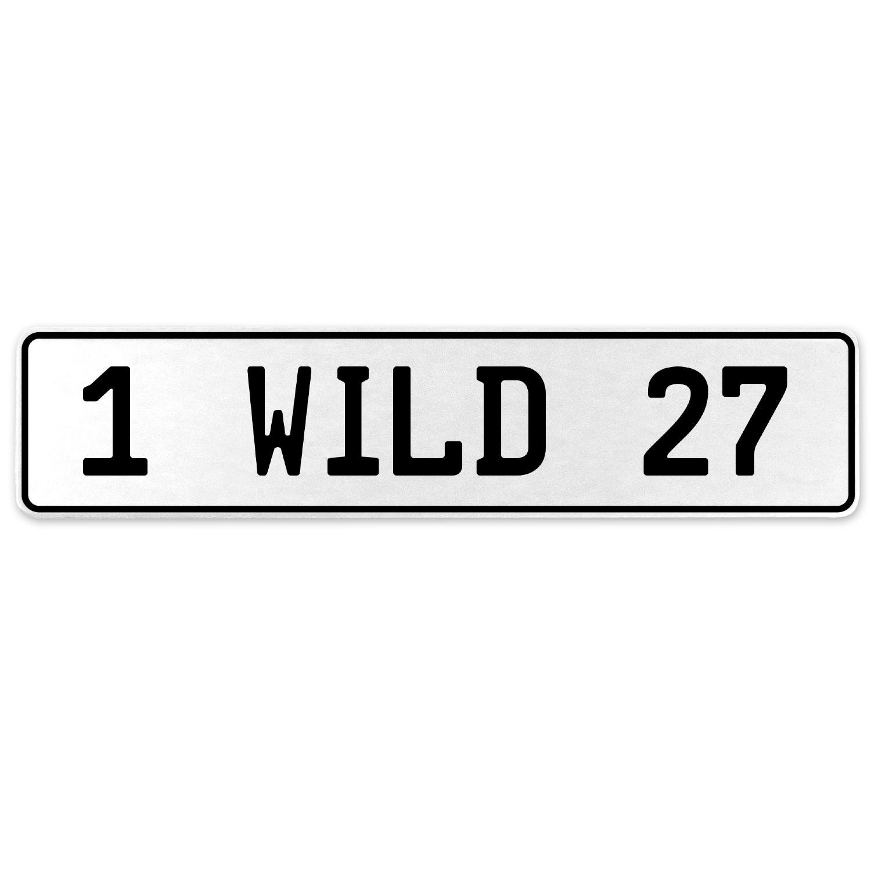 Vintage Parts 555911 1 Wild 27 White Stamped Aluminum European License Plate