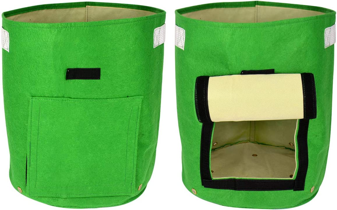 2Pack Potato Grow Bags 10 Gallon Garden Vegetable Planters Growing Bag with Handles