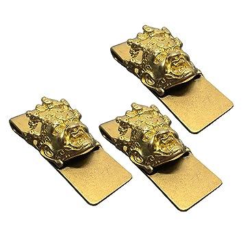 3pcs hombres creativa latón espesar clip de dinero clip de la tarjeta de negocios titular de