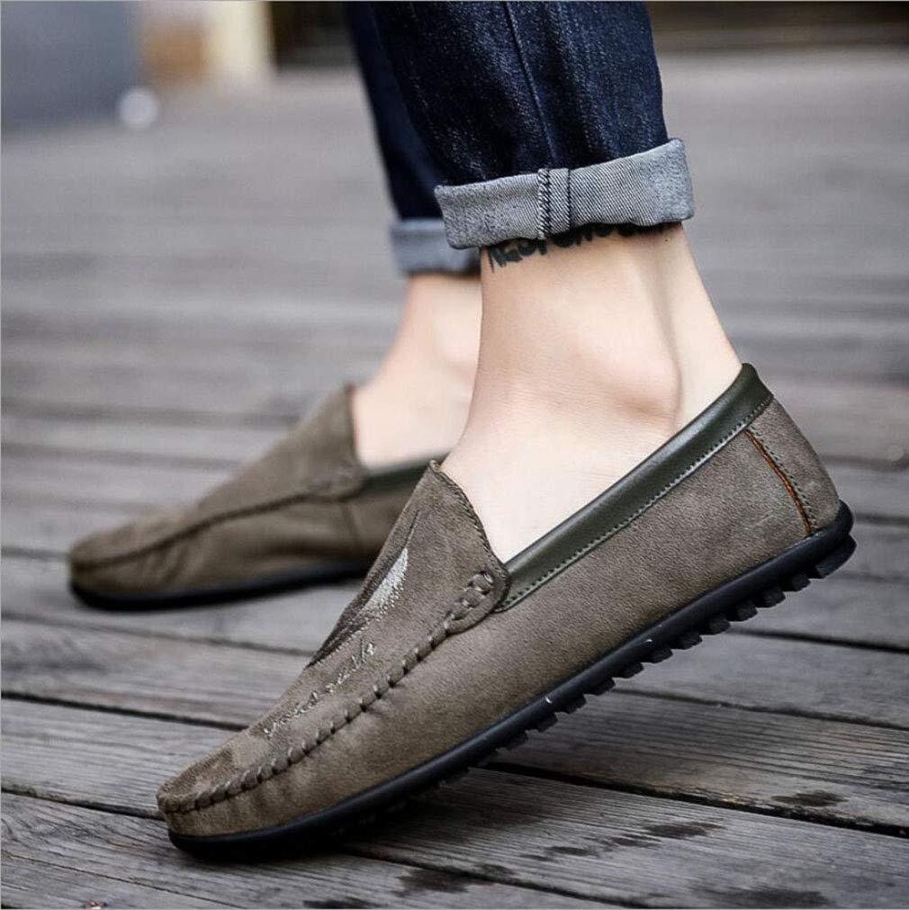 YAN Herren Schuhe Wildleder Frühling Herbst Loafers Loafers Loafers & Slip-Ons Leichte Sohlen Fahren Schuhe Casual Party & Abend im Freien (Farbe   C, Größe   39) 5ef4fb