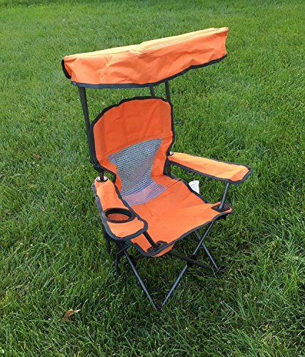 Westfield Outdoor Kid's Folding Chair with Canopy and Durable Carry Bag Orange