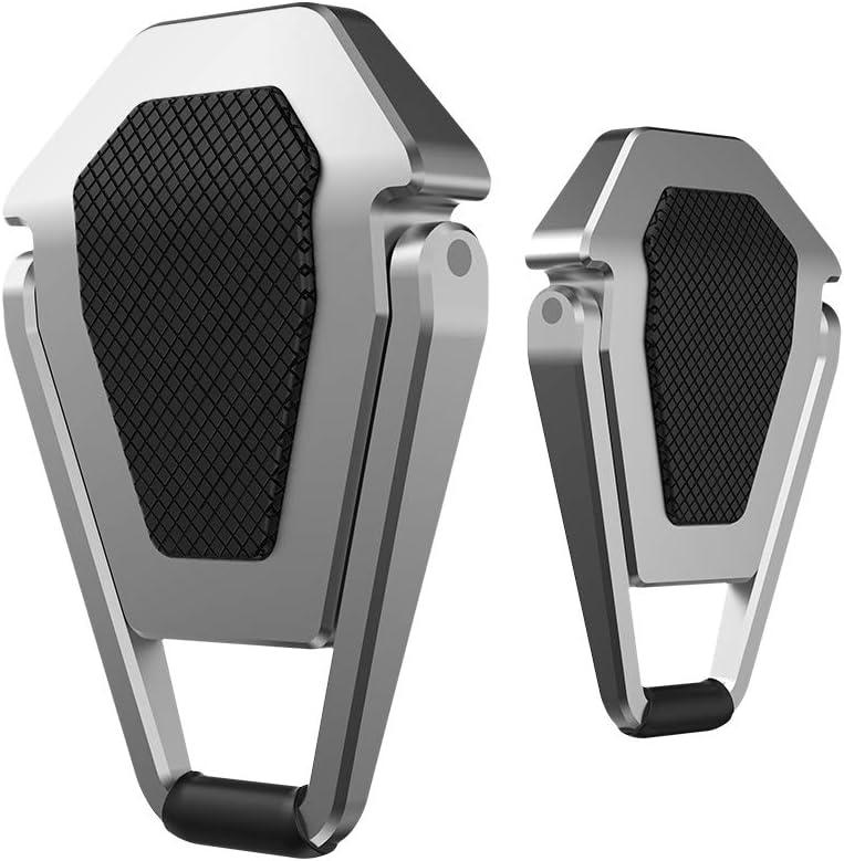 aleaci/ón de cinc plegable Soporte para ordenador port/átil abrazadera de metal invisible almohadilla de refrigeraci/ón para port/átil color negro y plateado