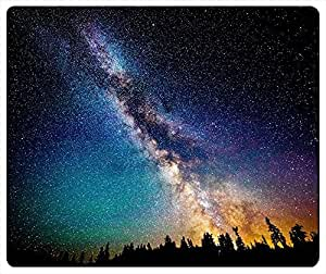 Colorful Night Sky Rectangle Mouse Pad 240x200x3mm At Colored Cases Store