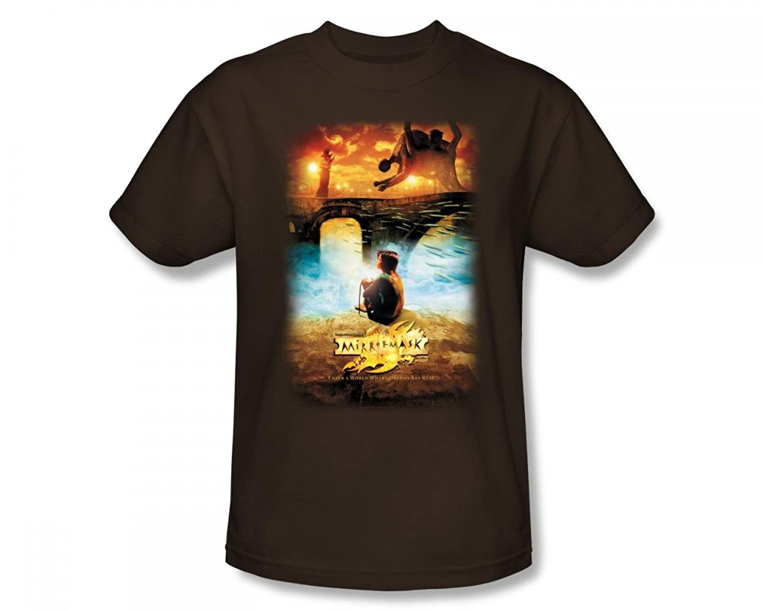 Mirrormask - Movie Poster Adult T-Shirt In Coffee
