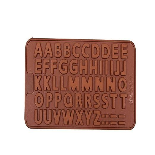 LASTARTS 26 Alfabeto inglés Silicona Molde de Chocolate Molde de ...