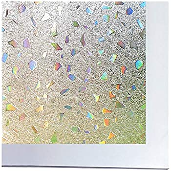 Amazon Com Bloss Static Cling Privacy Film Frosted Glass