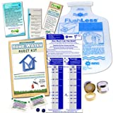 Home Water Audit & Bathroom Kit | Faucet Aerator & Flow Bag, Toilet Dye Tablets Low Flush Displacement Bag