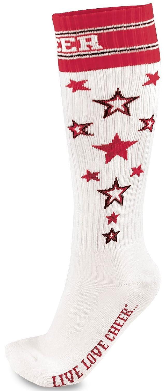 Chass茅 Women's Knee High Star Cheer Socks