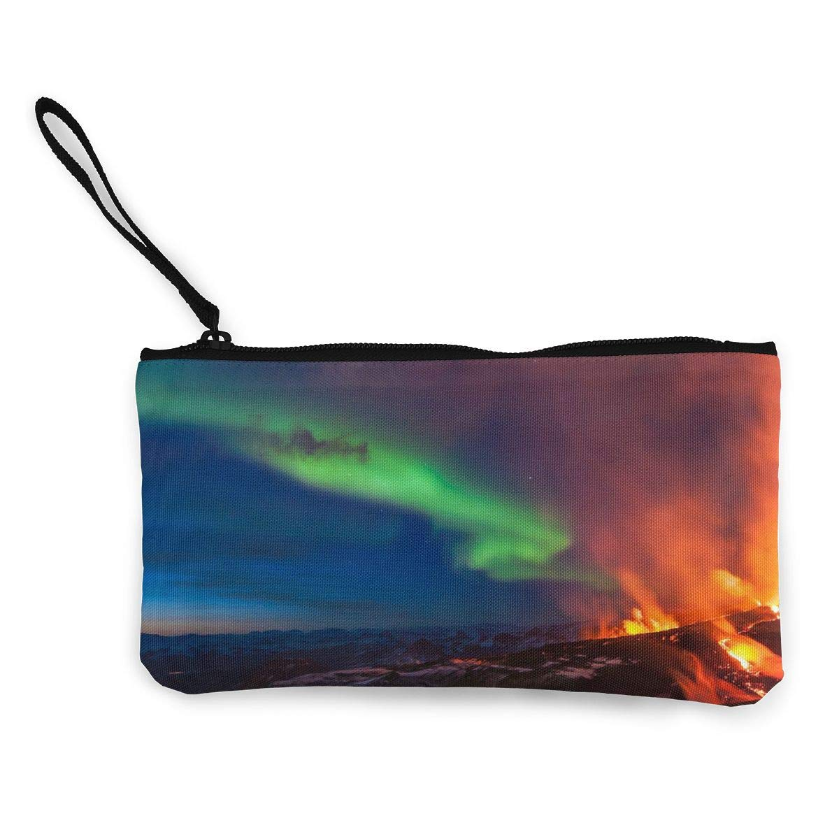 Canvas Coin Purse Volcanic Eruption Cosmetic Makeup Storage Wallet Clutch Purse Pencil Bag