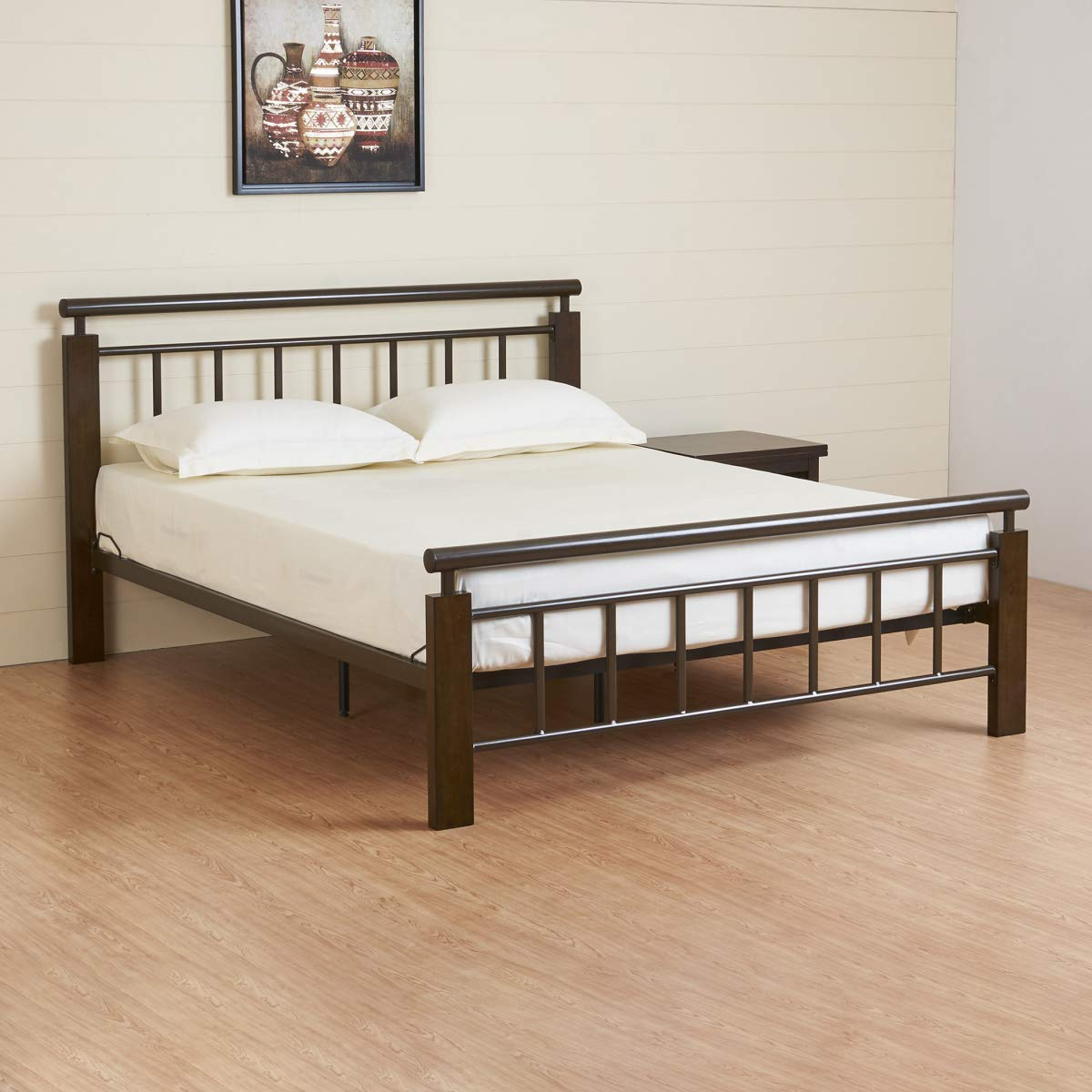 Home Centre Alex King Size Metal Bed- 195X204 cms