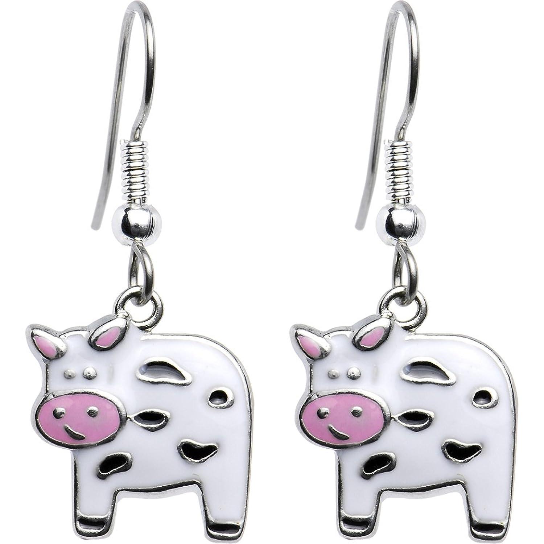 body candy moo moo cow earrings dangle earrings jewelry