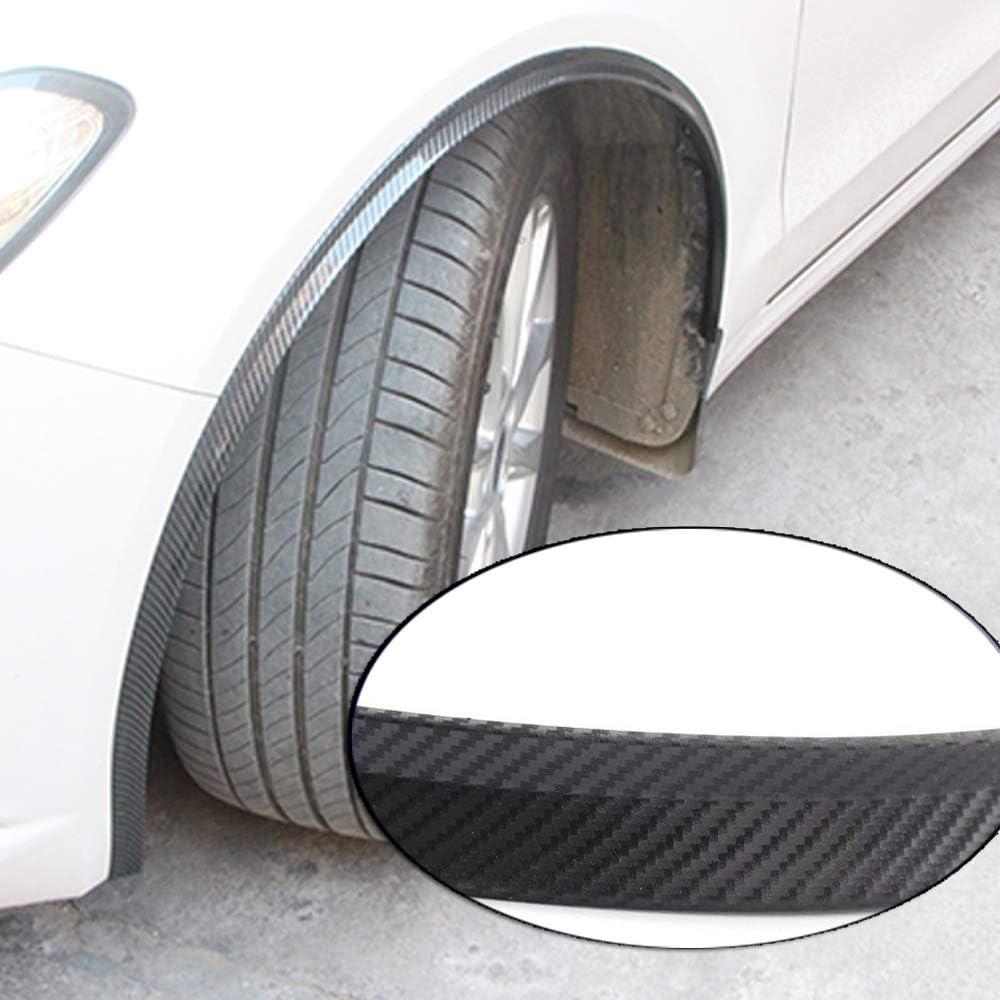 Pair Carbon Fiber Surface Car Auto Front Rear Wheel Mudguard ABS Plastic Fender