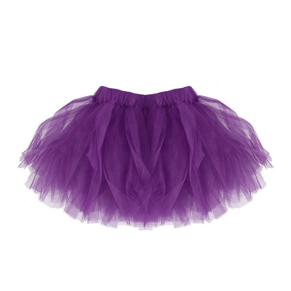 Clearance Sale,Girls and Women Pleated Tutu Skirts Tulle Ballet Skirt Dancewear Dress Costumes Yamally (One Size, Purple (Girls))