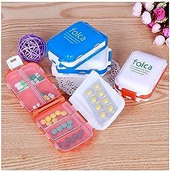 Daily pill case -Pill Box Set-1pcs Pill Box Folding Vitamin Medicine Drug Container Pill Box Makeup Storage Case Container Pill Organizer Box Case - Pill Box For Purse