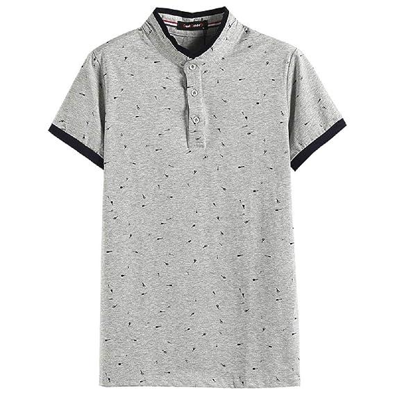 Camiseta Estampada Polo de Verano para Hombre, Manga Corta y Talla ...