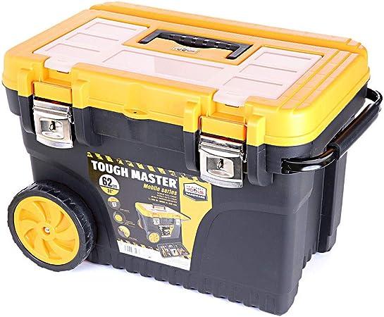 Tool Box Tough Master - Caja de herramientas profesional con ruedas y bandeja para bolsos (61 cm): Amazon.es: Bricolaje y herramientas