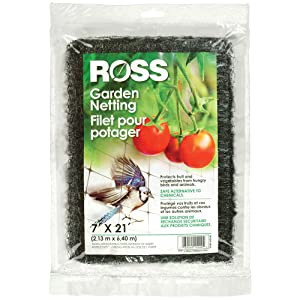 Easy Gardener Ross 15544 21-Foot x 7-Foot Multi-Use Garden Netting, Black