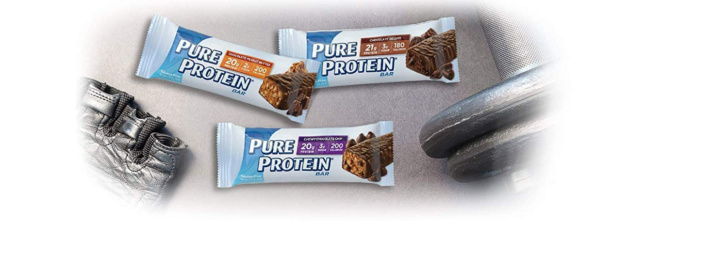 Pure Protein Bars, High Protein, Nurtritious Snacks to Support Energy, Low Sugar, Gluten Free, Variety Pack, 1.76oz, 50 Pack (50 Pack)