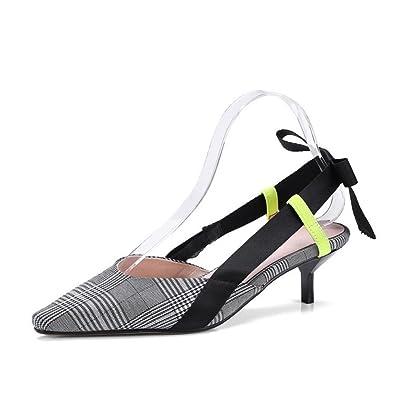 Sommer Neue Karierte Sandalen Europa Und Amerika Wind Tipps Nach Dem Air Bow Frauen Sandalen