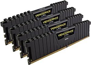 Corsair Vengeance LPX 16GB (4x4GB) DDR4 DRAM 2666MHz (PC4-21300) C16 Memory Kit - Black