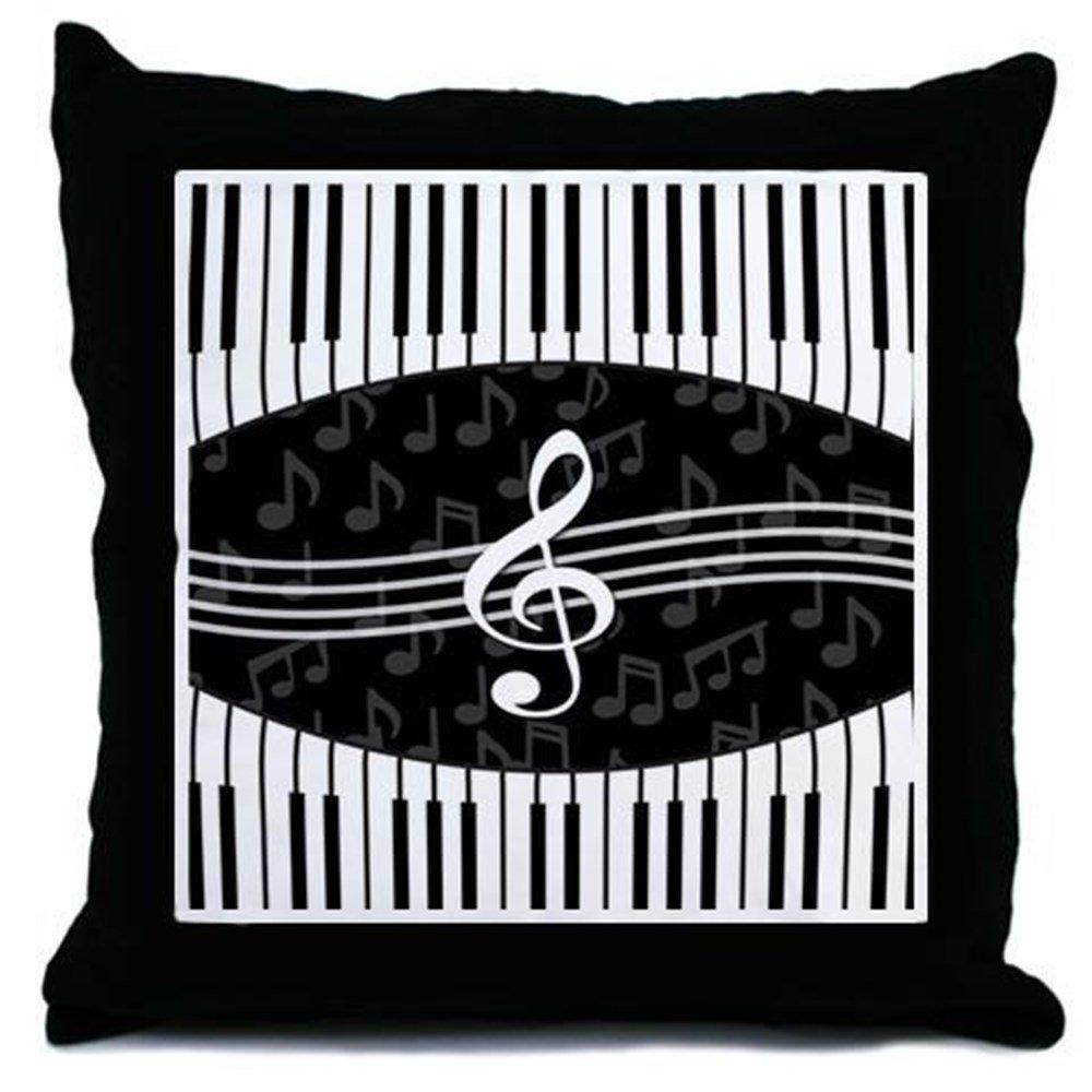 b5bb062e7ceb Amazon.com: CafePress - Stylish Designer Piano and Music Notes Throw ...