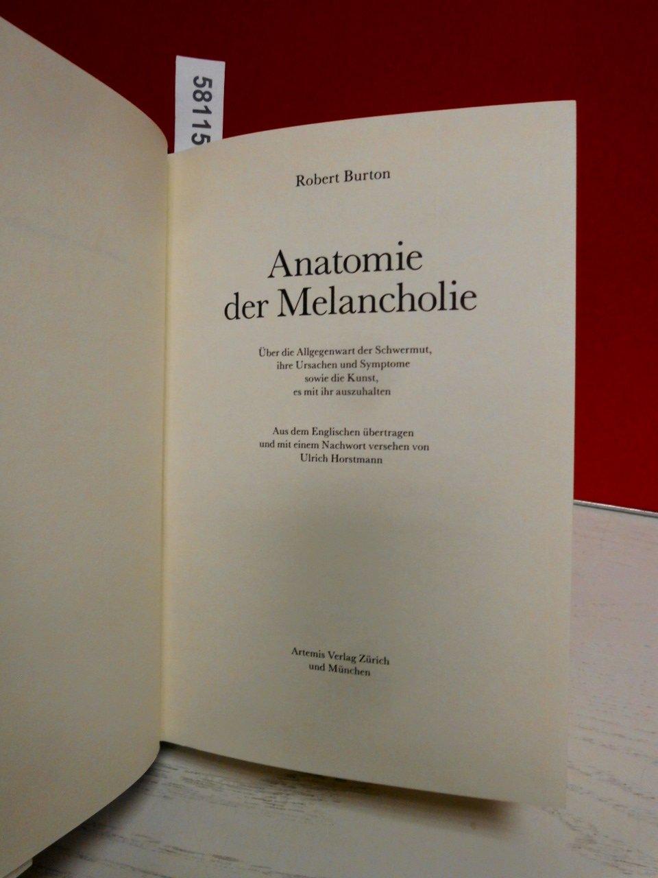 Erfreut Anatomie Der Melancholie Zeitgenössisch - Anatomie Und ...