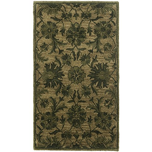 Safavieh Antiquities Collection AT824A Handmade Traditional Oriental Olive and Green Wool Area Rug (2'3