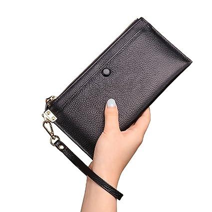 Amazon.com: Larga para Mujer Bolso de mano de piel teléfono ...