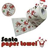 Adornos navideños,Decoraciones navideñas,Papel de Rollo de patrón de Navidad Interesante Papel higiénico
