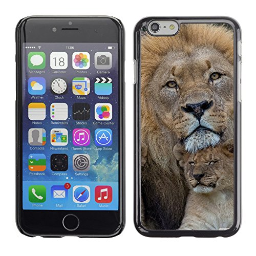 Premio Sottile Slim Cassa Custodia Case Cover Shell // V00004059 jeunes prédateurs lions // Apple iPhone 6 6S 6G 4.7""