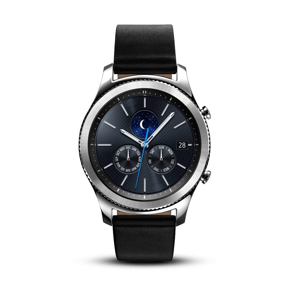 Samsung Gear S3 Classic Smartwatch 4GB SM-R770 with Leather Band (Silver) Tizen OS - International Version with No Warranty (Renewed)