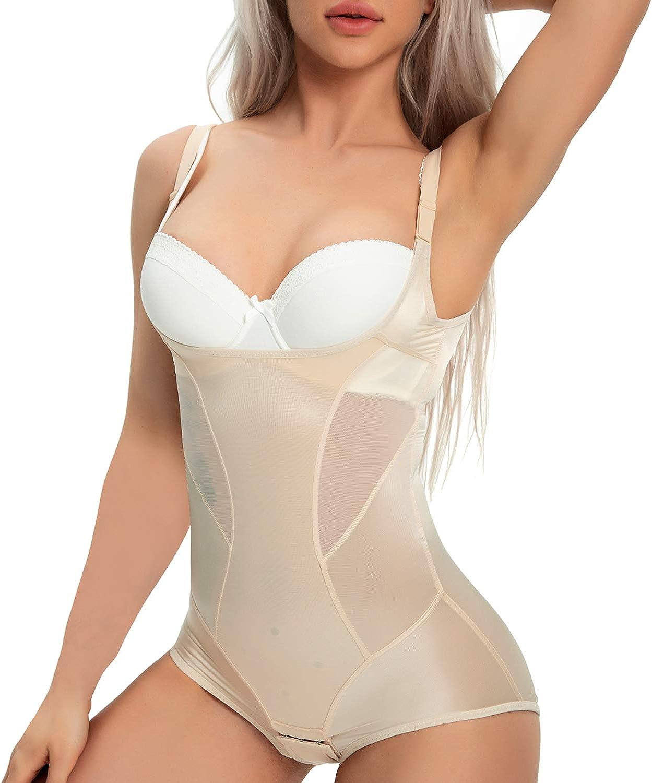 Damen Pure Farbe Tummy Control Shapewears Passform Nahtlos Body Unterwäsche # Cz